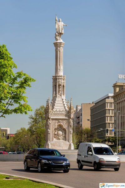 monumento de colon en madrid