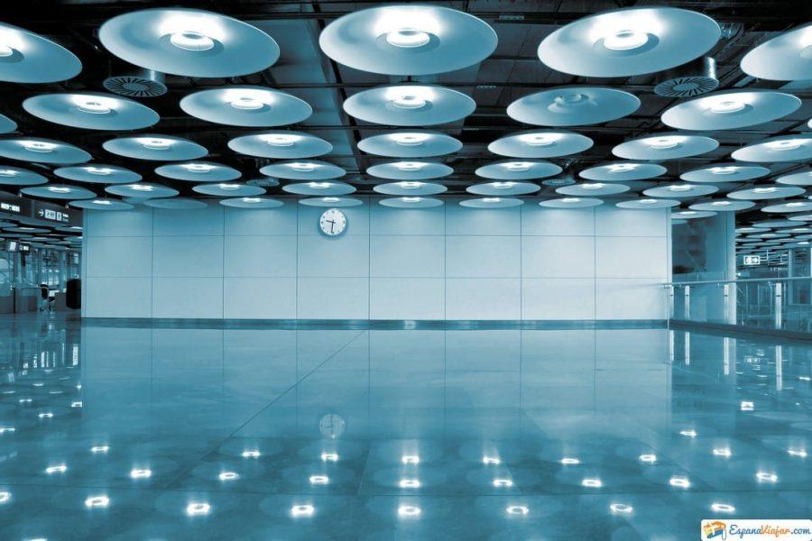 luces aeropuerto barajas
