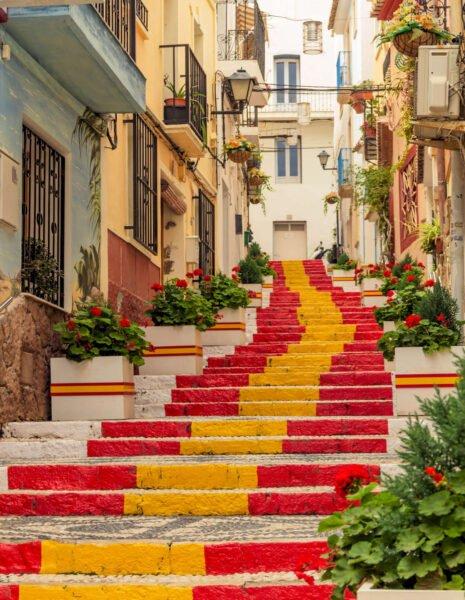 Calles coloridas de Calpe