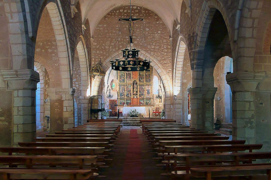 Interior de la Iglesia de Santa María del Mercado