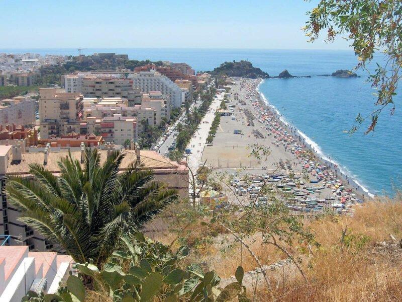 Playa San Cristóbal en Almuñécar