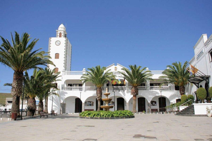 Plaza León y Castillo en San Bartolomé