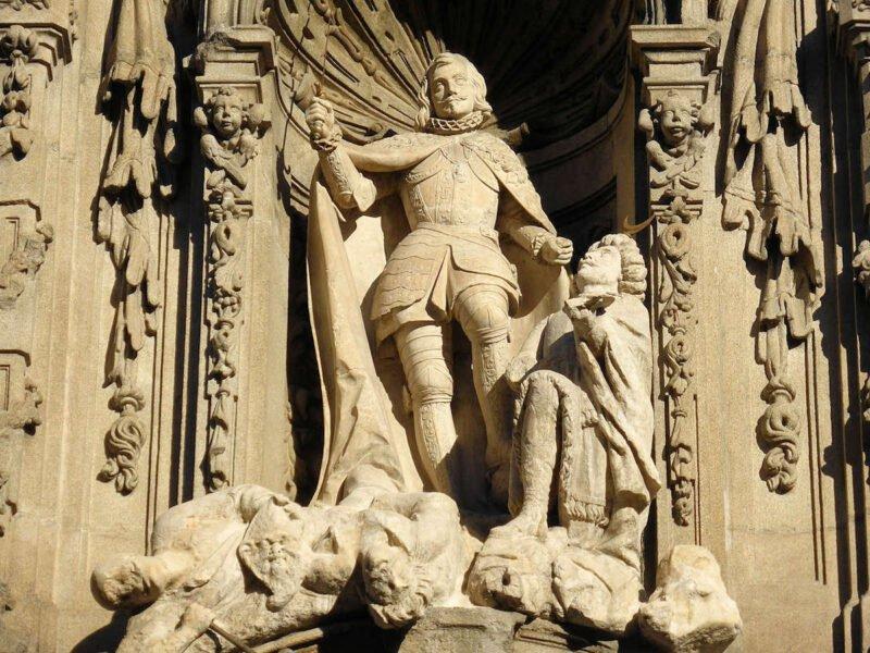 Escultura de San Fernando en el Museo de Historia de Madrid