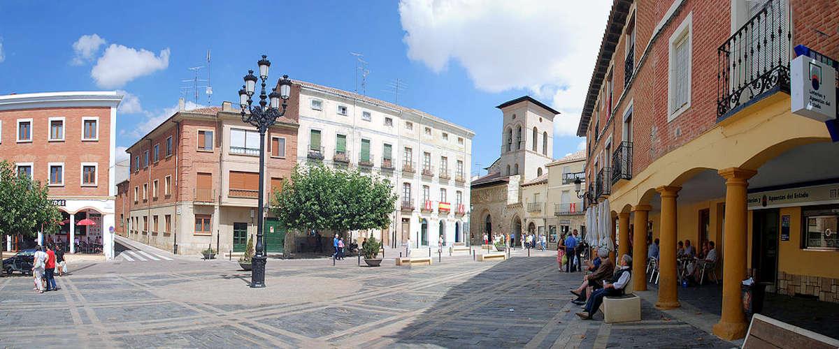 Plaza Mayor en Carrión de los Condes