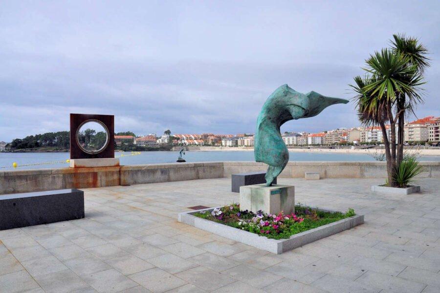 Esculturas en Sanxenxo