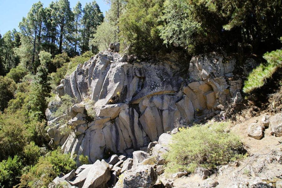 Rocas volcánicas en La Orotava