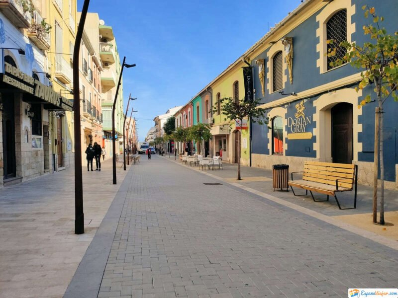 Calles de Dénia en Alicante