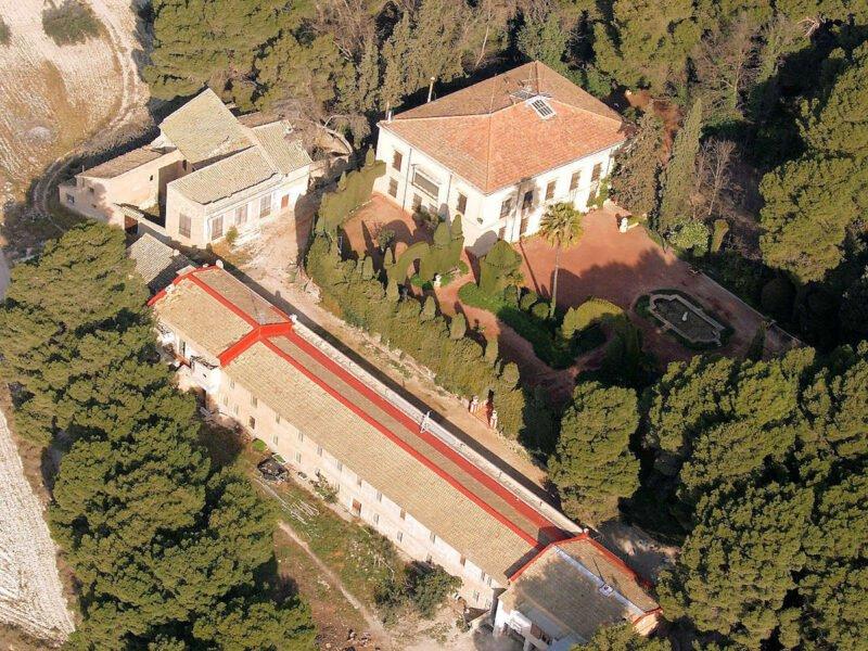Vista aérea de la finca de El Poblet
