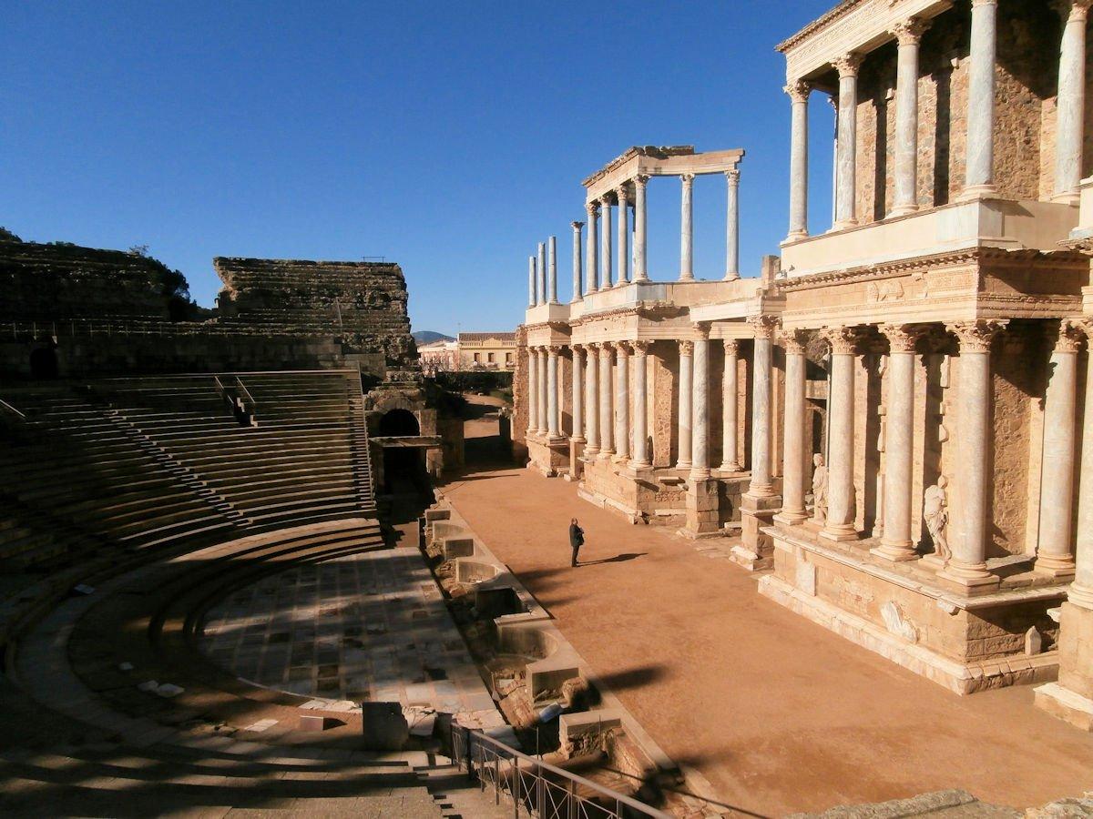 Badajoz teatro Romano de merida