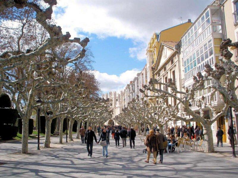 Paseo el Espolón de Burgos