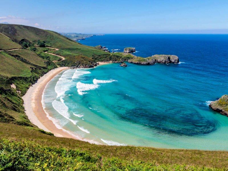 Playa Torimbia en Asturias