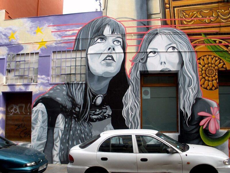 Cantón de Santa Ana mural_Cubiertos_de cielo y estrellas Vitoria