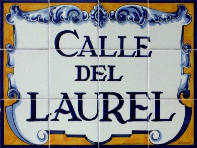 Calle del Laurel. Placa. Logroño