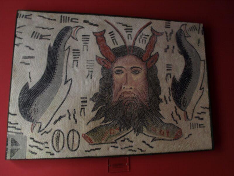 Detalle de mosaico de la casa de los mosaicos en Lugo