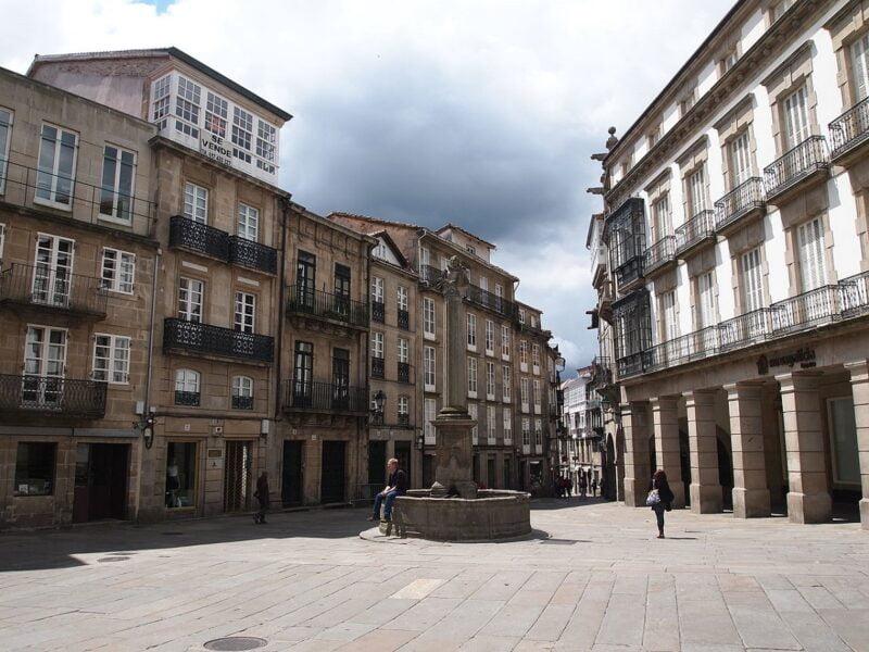 Plaza de Cervantes. Casco histórico de Santiago de Compostela