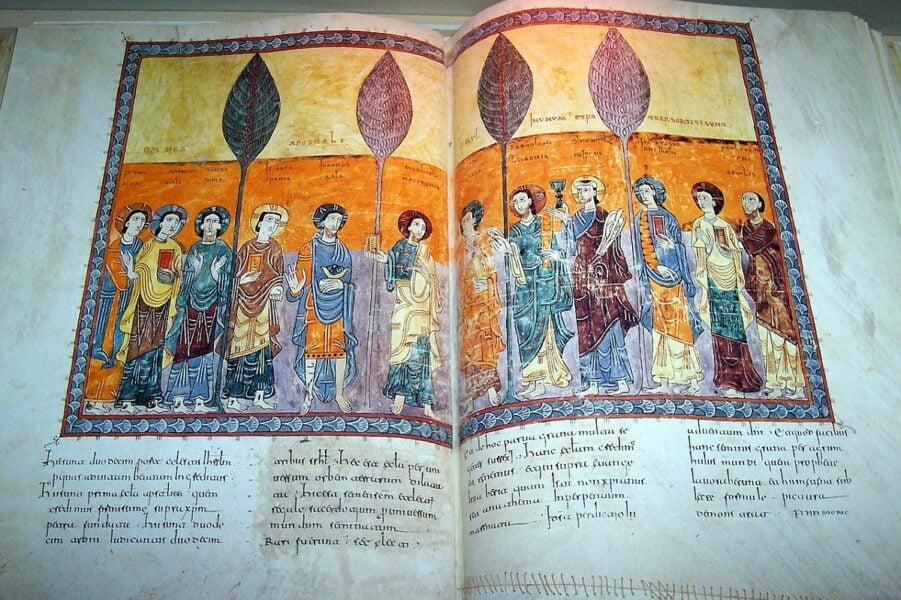 Códice expuesto en el Museo de la Peregrinación. Santiago de Compostela