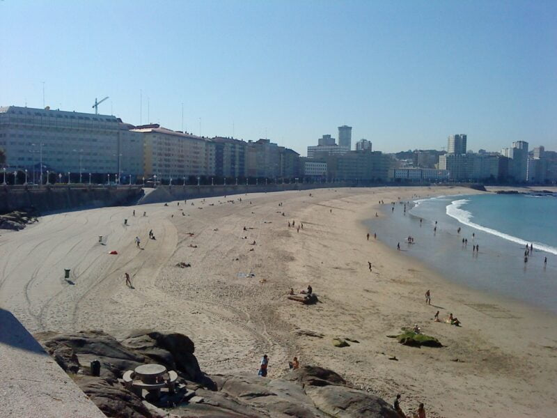 Playa de Orzán en A. Coruña