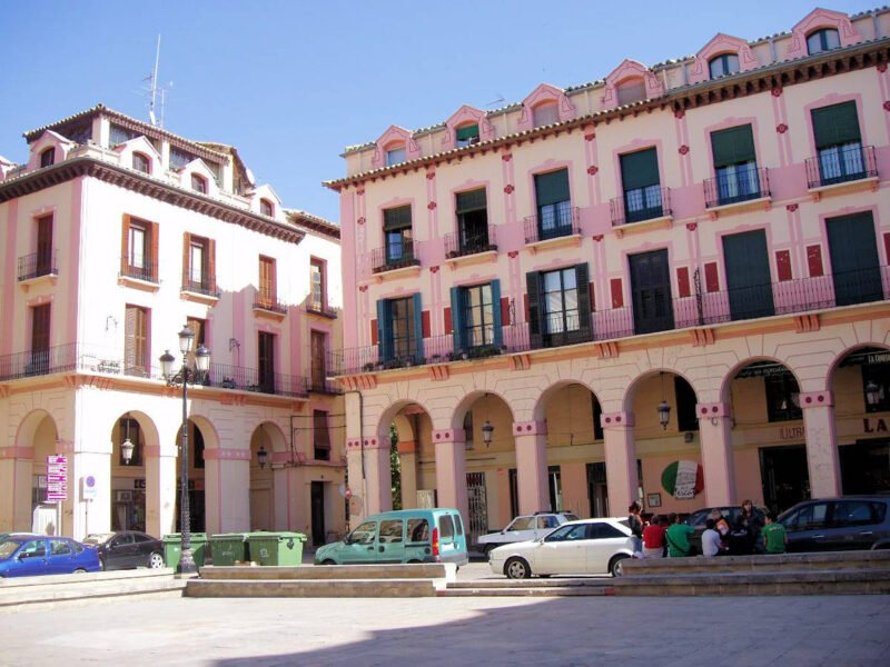 Plaza del Mercado en Huesca
