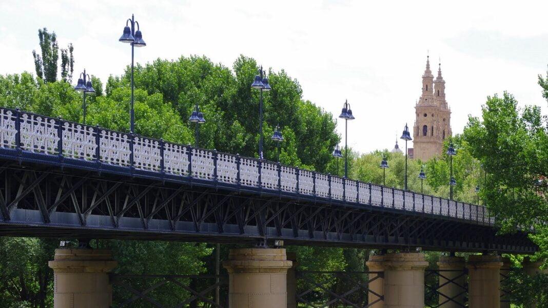Puente de hierro.Logroño