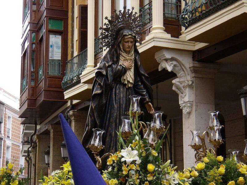 Paso Semana Santa Palencia Virgen de la Amargura