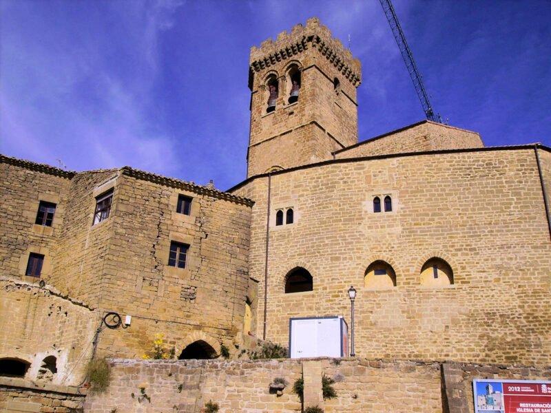 Iglesia de Santa María en Ujué Navarra