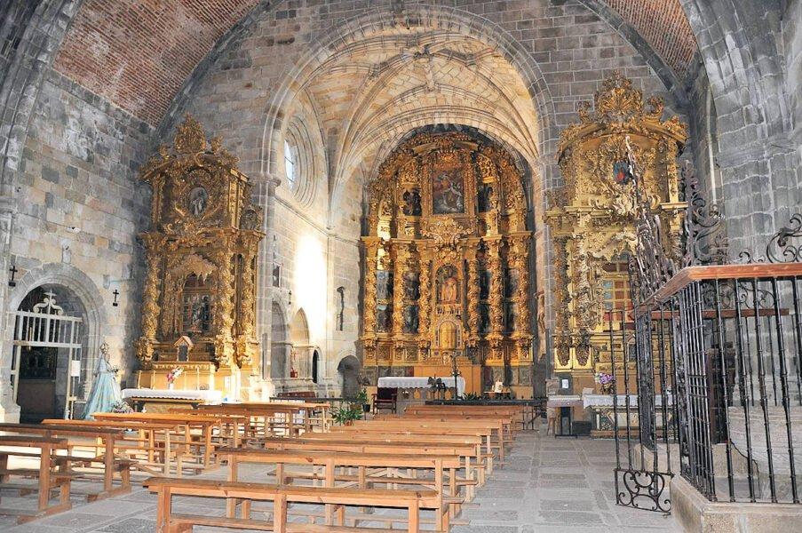 Retablos barrocos de la iglesia colegiata de Bonilla de la Sierra