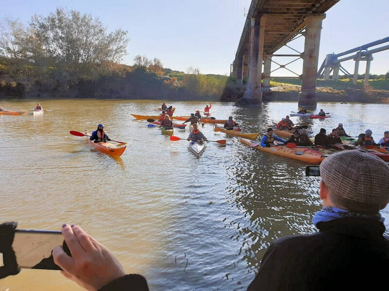 Kayaks en el Guadalquivir en Palma del Río