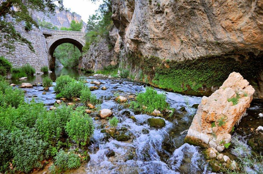 Río Escabas en el Estrecho de Priego