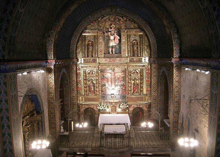 Beget. Altar Mayor Iglesia de San Cristóbal.