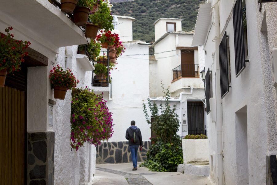 Casas típicas del Barrio Medio en Trevélez