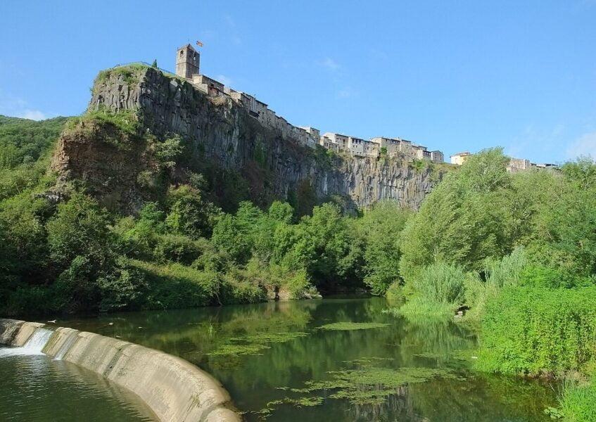 Mirador de La Pasarela en Castellfollit de la Roca