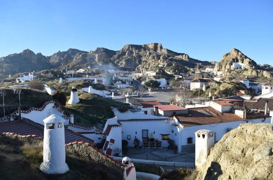 Barrio las Cuevas en Guadix