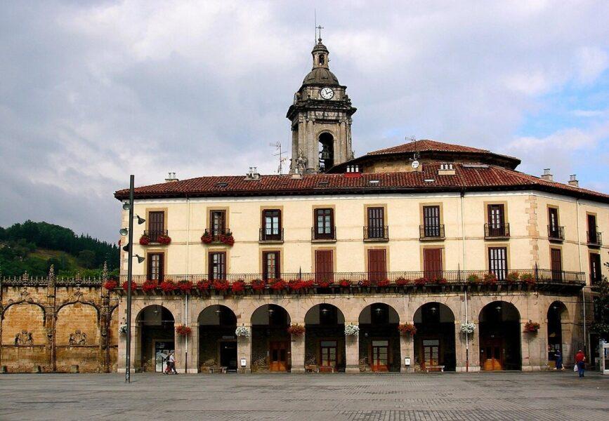 Plaza de los Fueros en Oñate