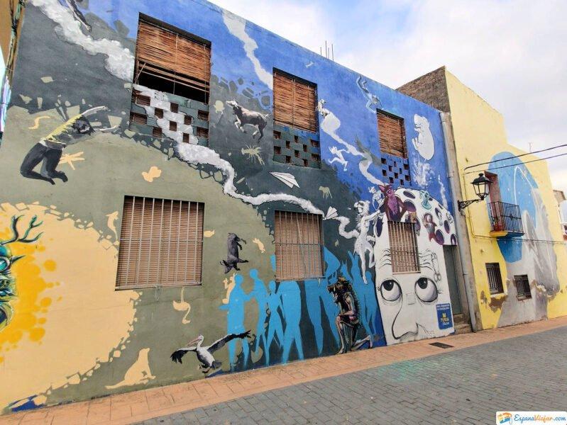 Arte Urbana en calles de Fanzara