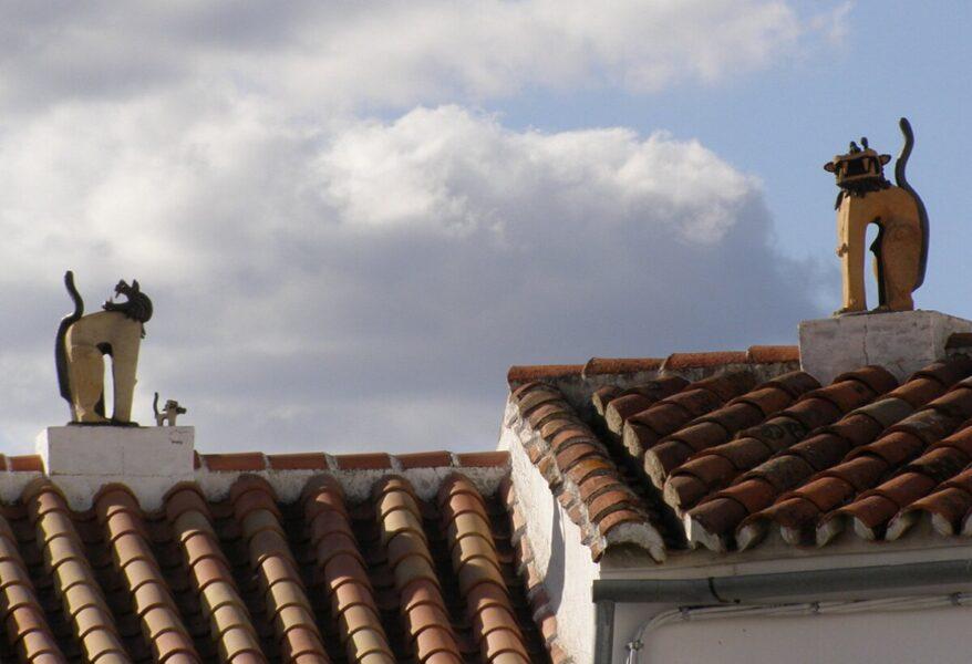 Arte en los tejados de Genalguacil