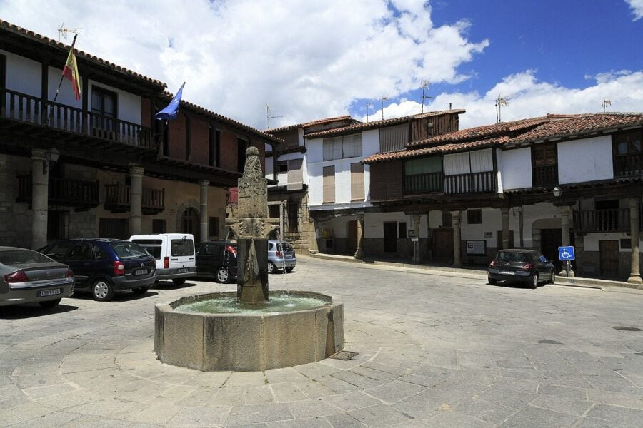 Plaza España de Valverde de la Vera