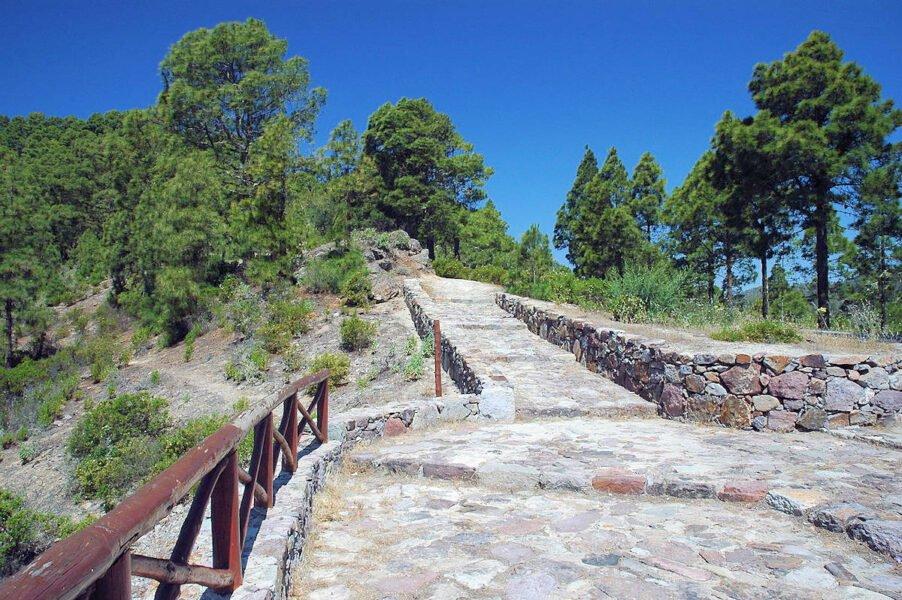 Senderos y caminos en Vega de San Mateo