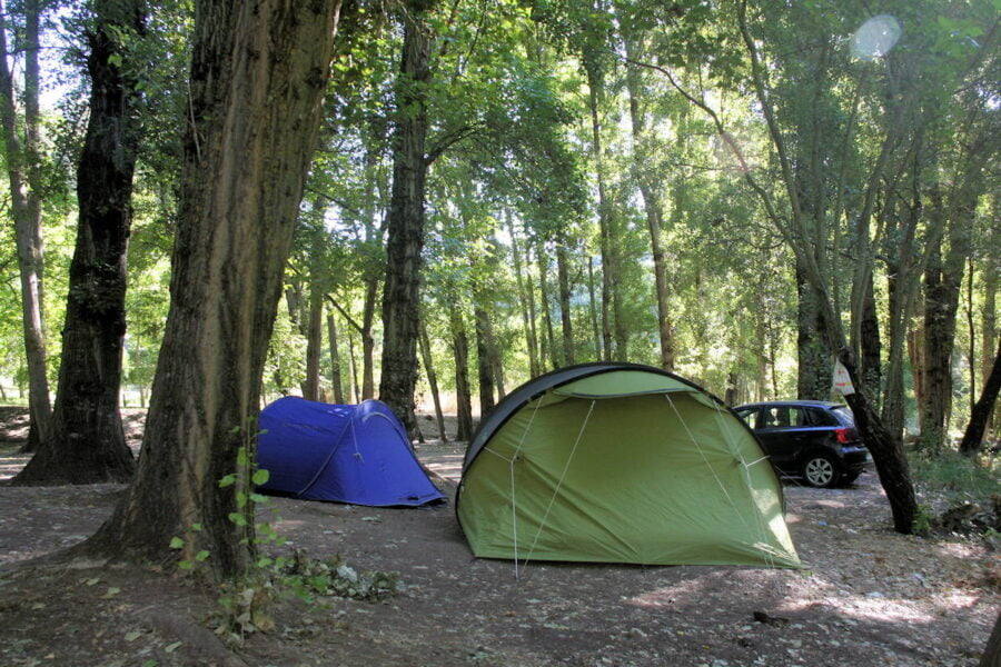 Camping en Júzcar